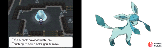 Glaceon fans will want to bring their Eevee to the Icy Rock.