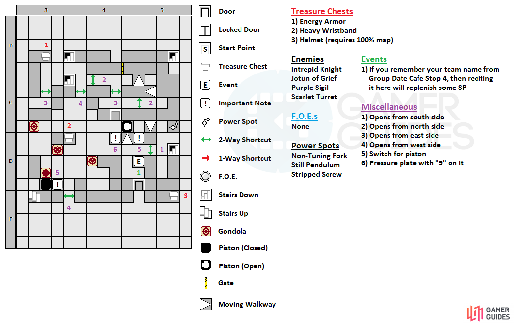 The map for the seventh floor of Clock Tower.