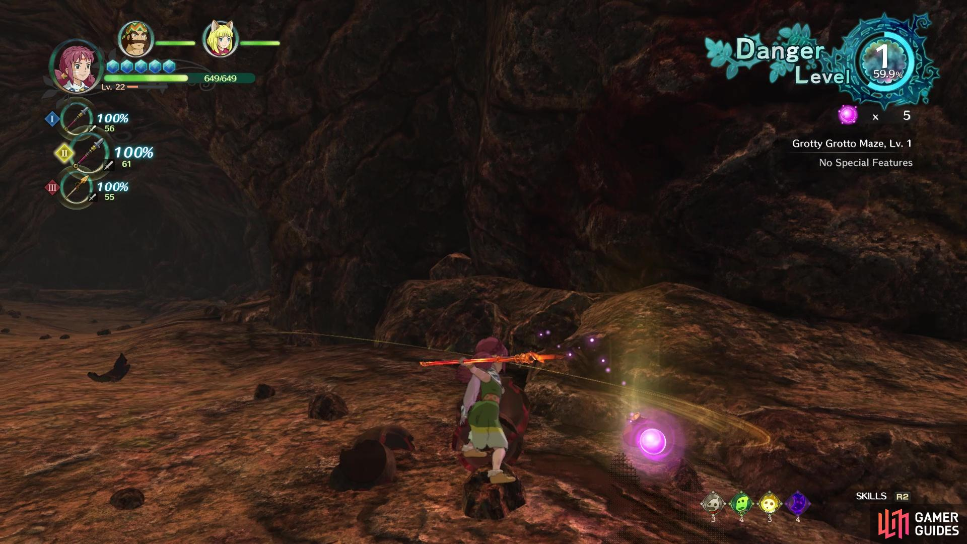Pink Orbs can be acquired from breaking pots or defeating enemies