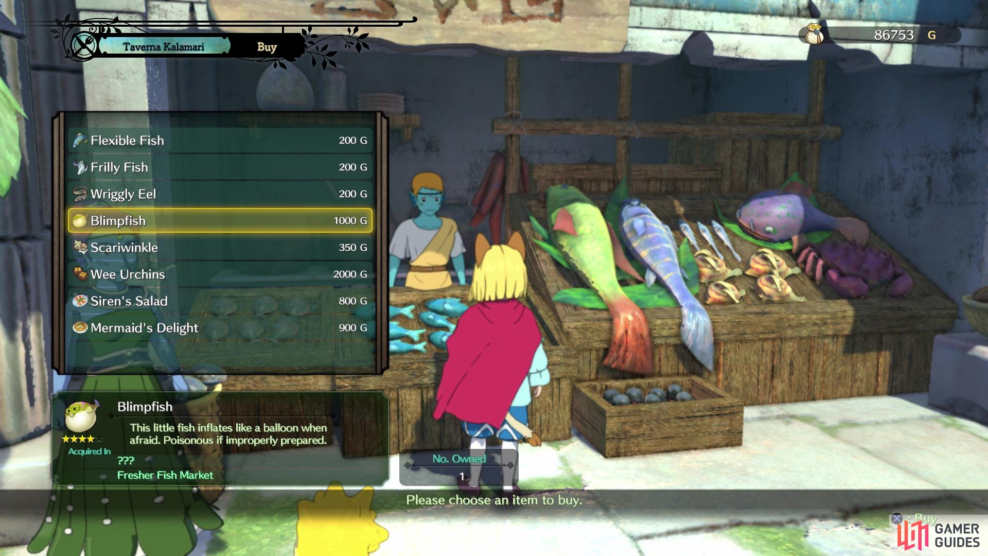 You can purchase a Blimpfish from the one merchant in Hydropolis
