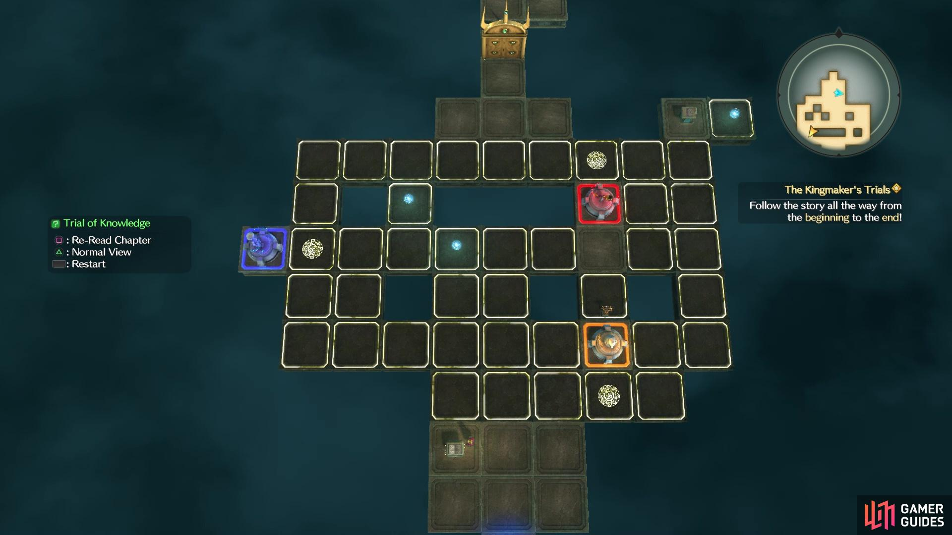 Get a bird's eye view of the puzzle with the Triangle button