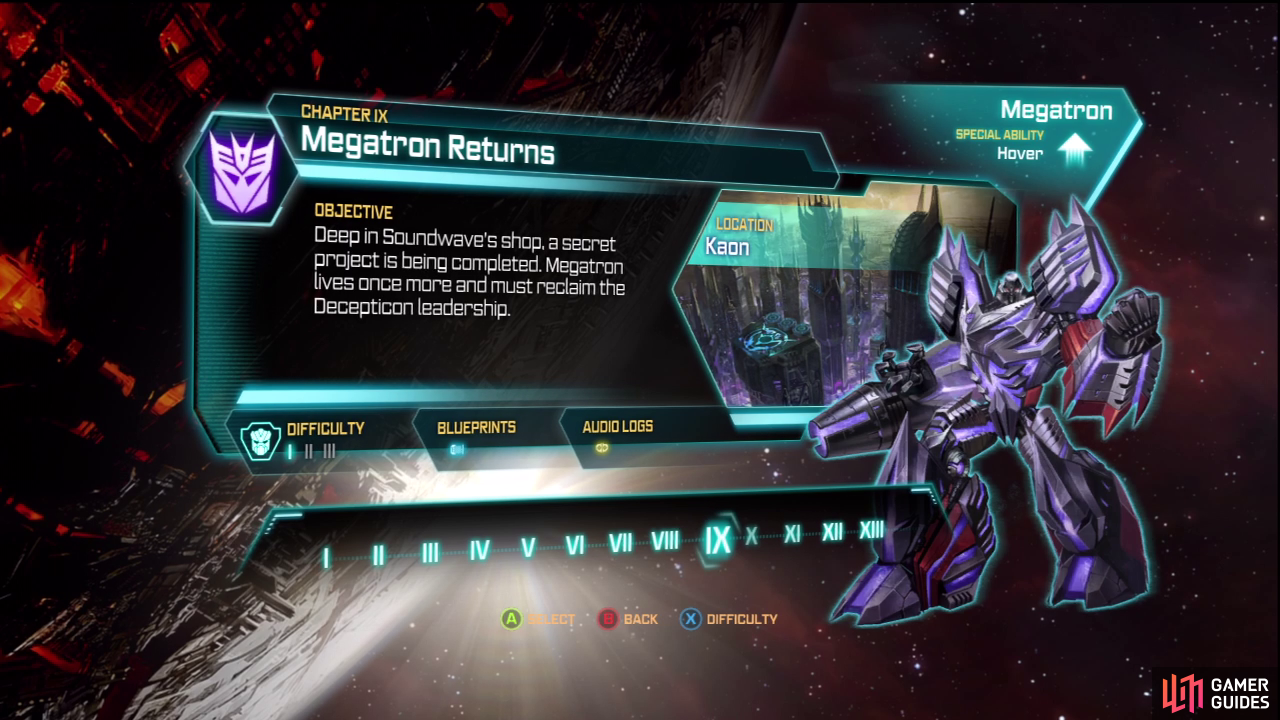 megatron returns chapter ix transformers fall of cybertron
