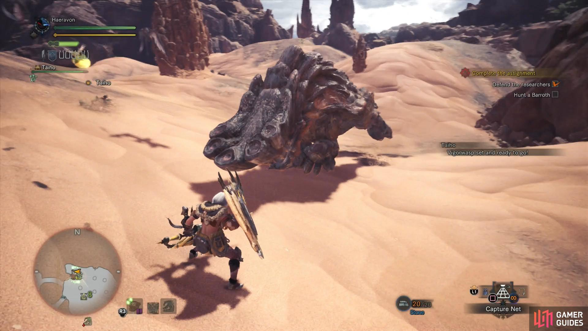 Despite its massive size, the Barroth's charge attacks can be quite dangerous