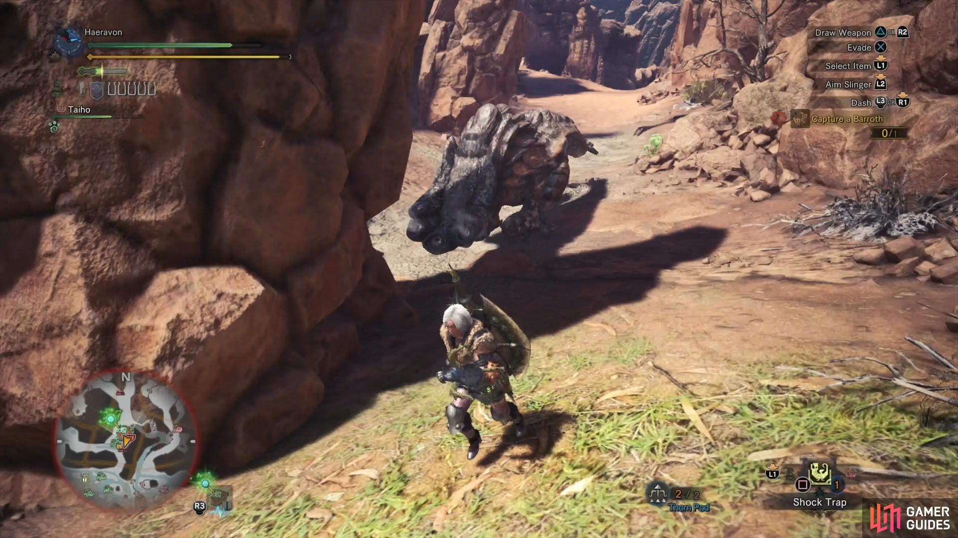 If you can provoke it into charge you near a spire, the Barroth will smack into the obstacle and stun itself