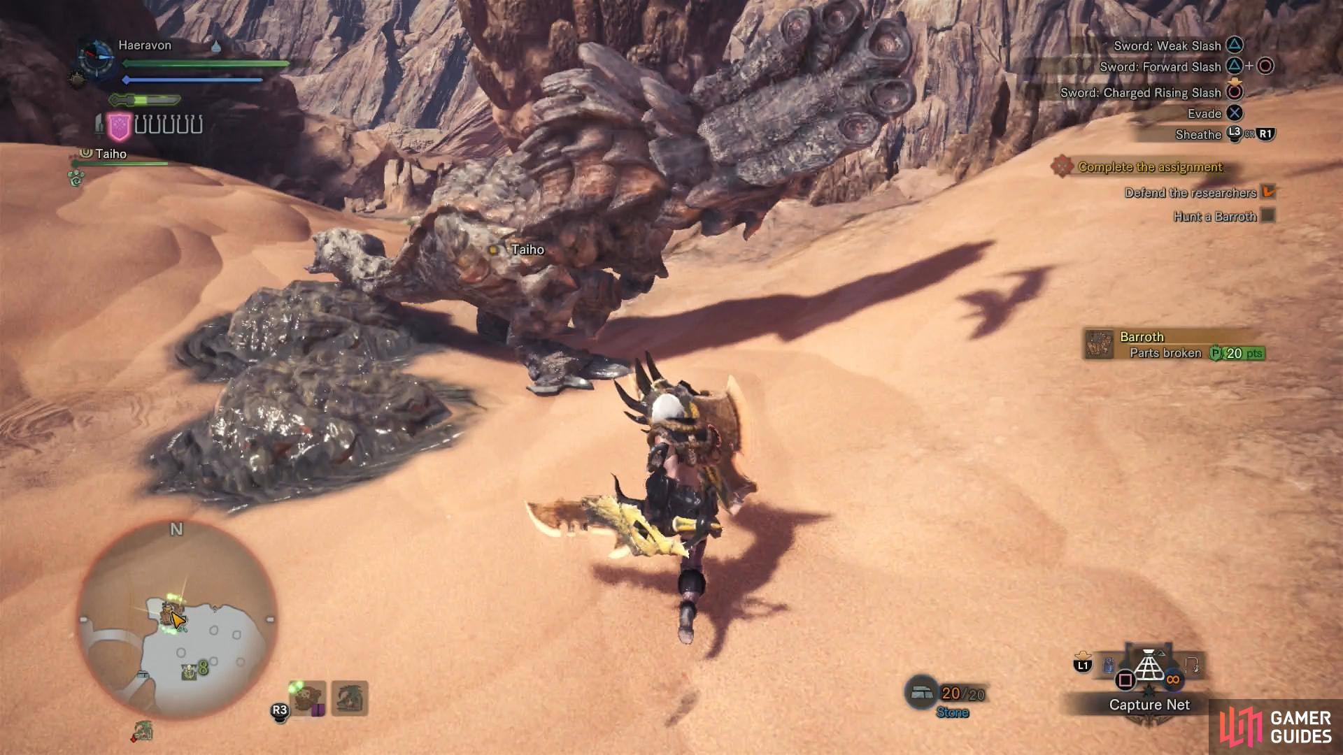 The Barroth will discharge muddy goo, sometimes intentionally, sometimes as part of other attacks