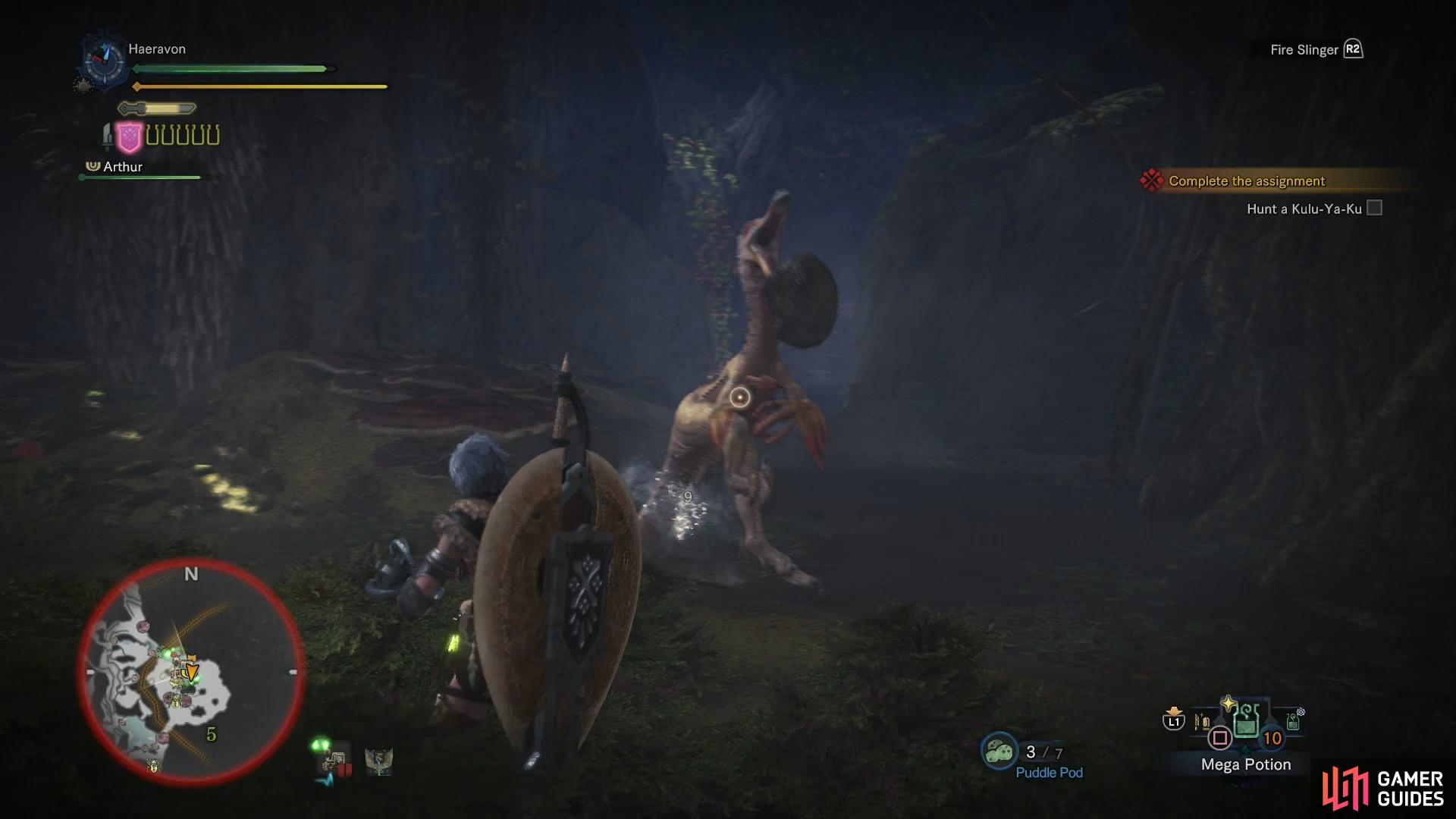 Pelting the Kulu-Ya-Ku with your Slinger may cause it to drop its boulder