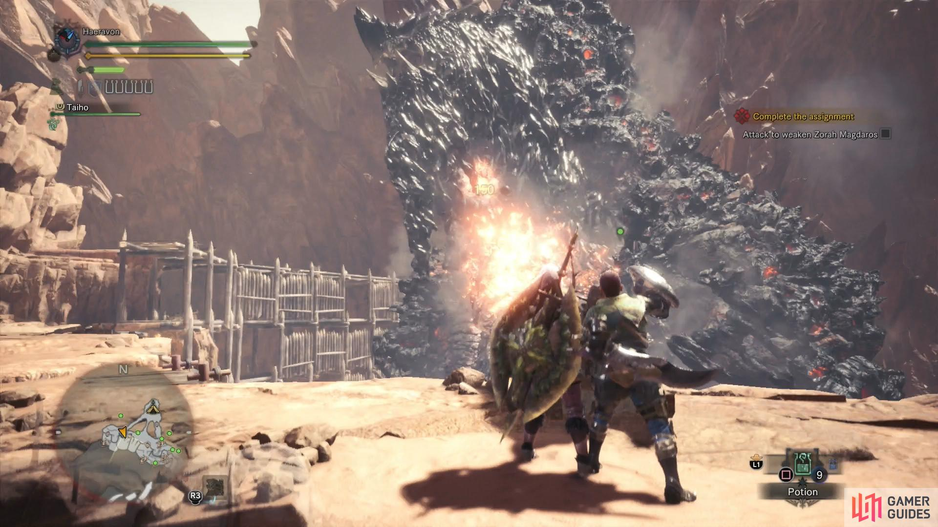 Load the various cannons with up to fire cannon balls at a time, then fire them in a volley to deal big damage to Zorah Magdaros