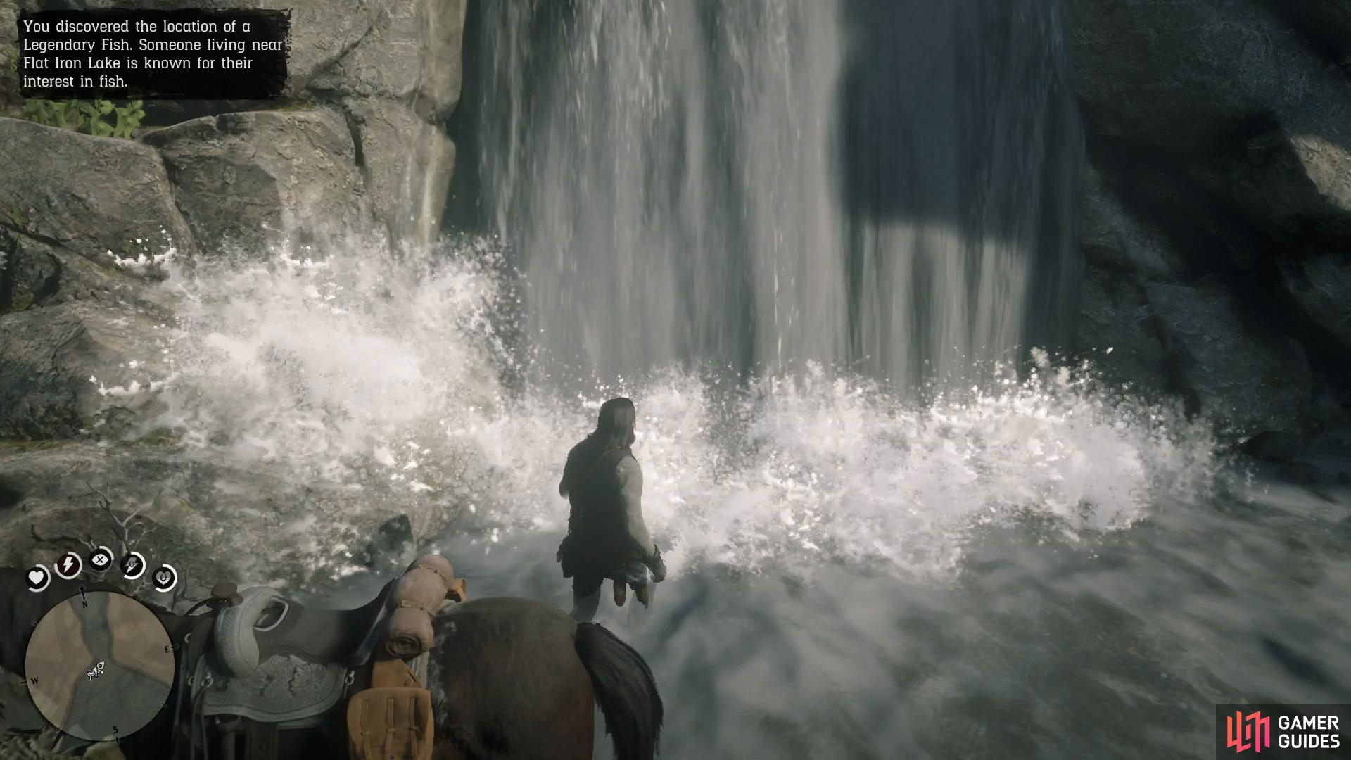 Head behind the waterfall to enter the cave