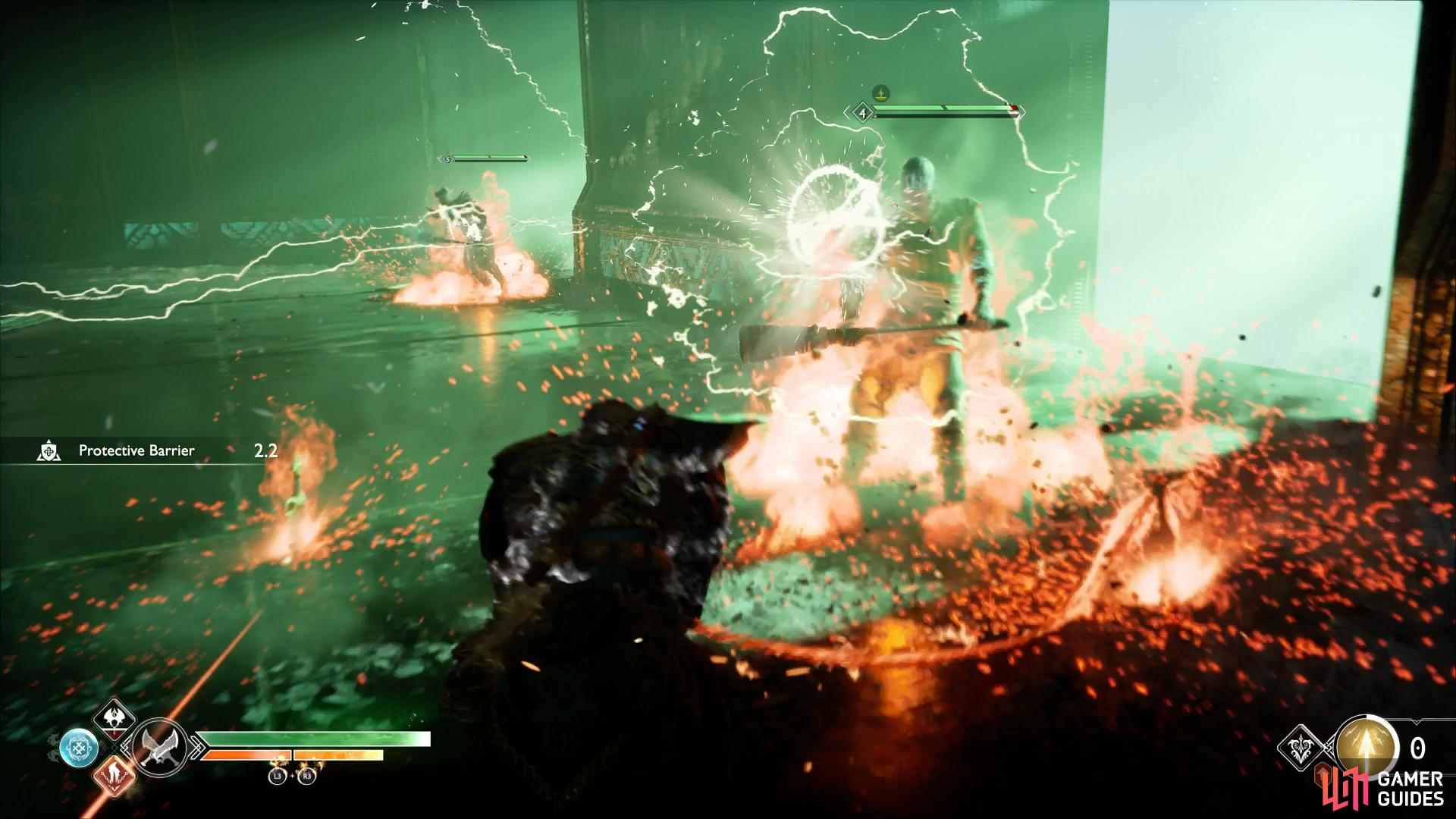 Prometheus Flame is as useful as ever against enemies from Helheim.