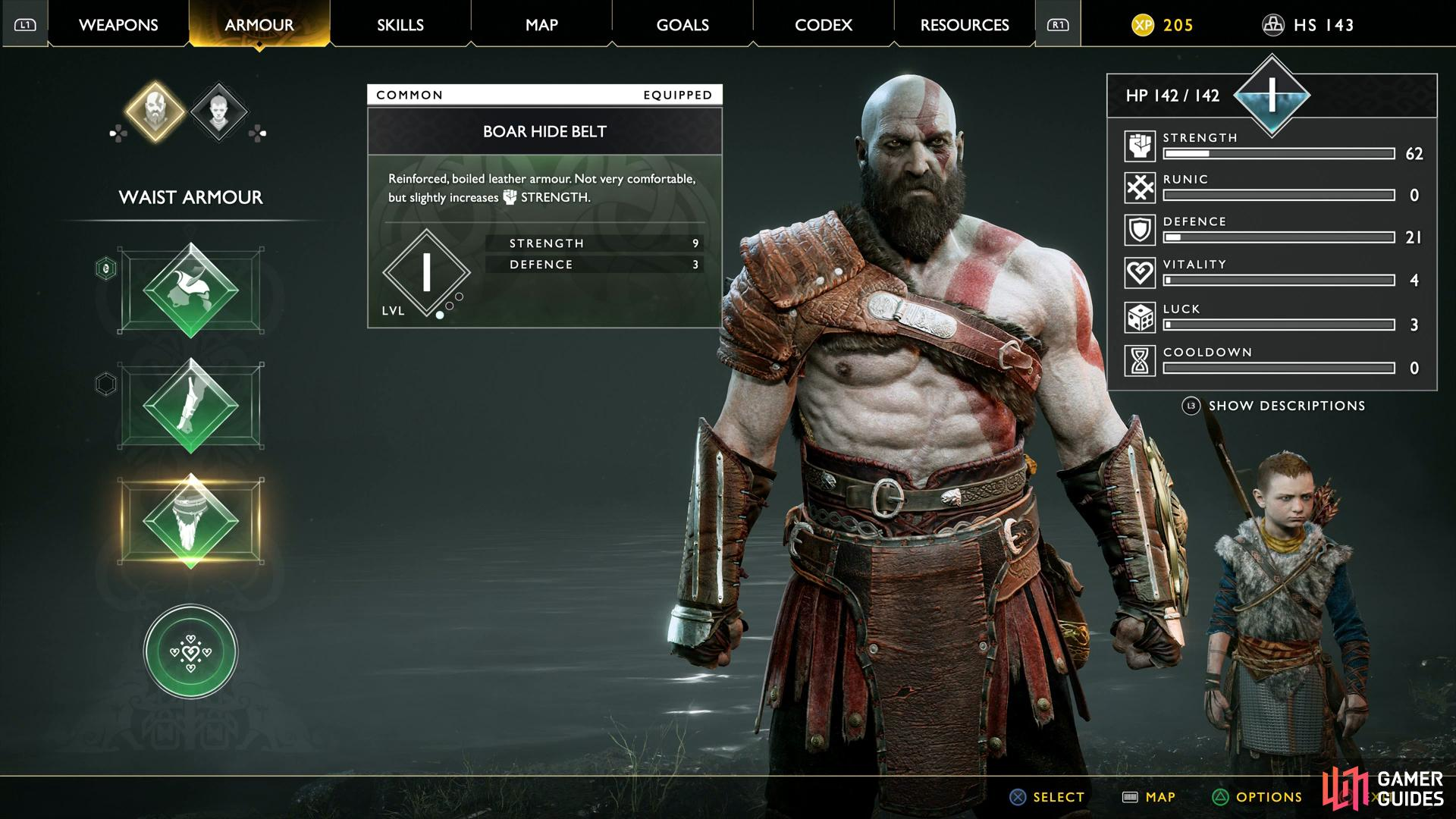 Try to upgrade Kratos as much as possible before you begin exploring.