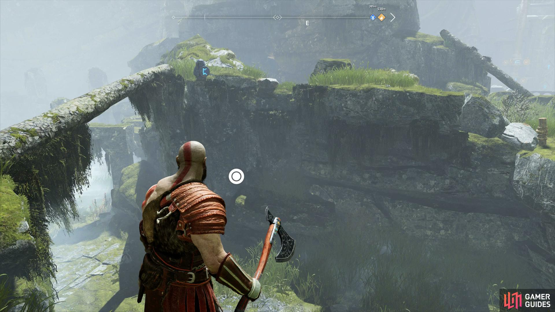 The first Rune is found to the right of the second Dragon statue, overlooking the area below