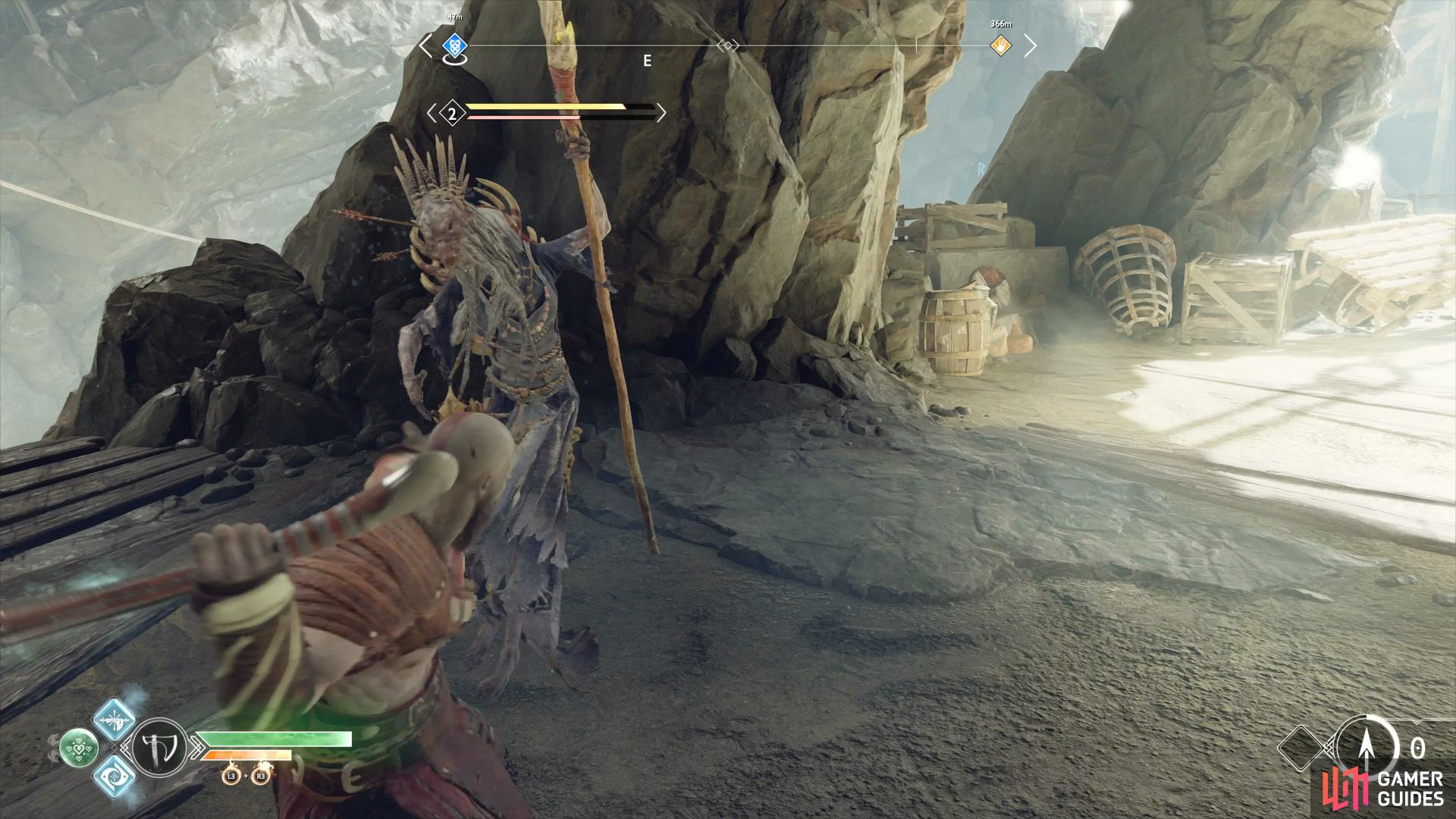 remember to use Atreus to pin the Revenant down with his arrows.