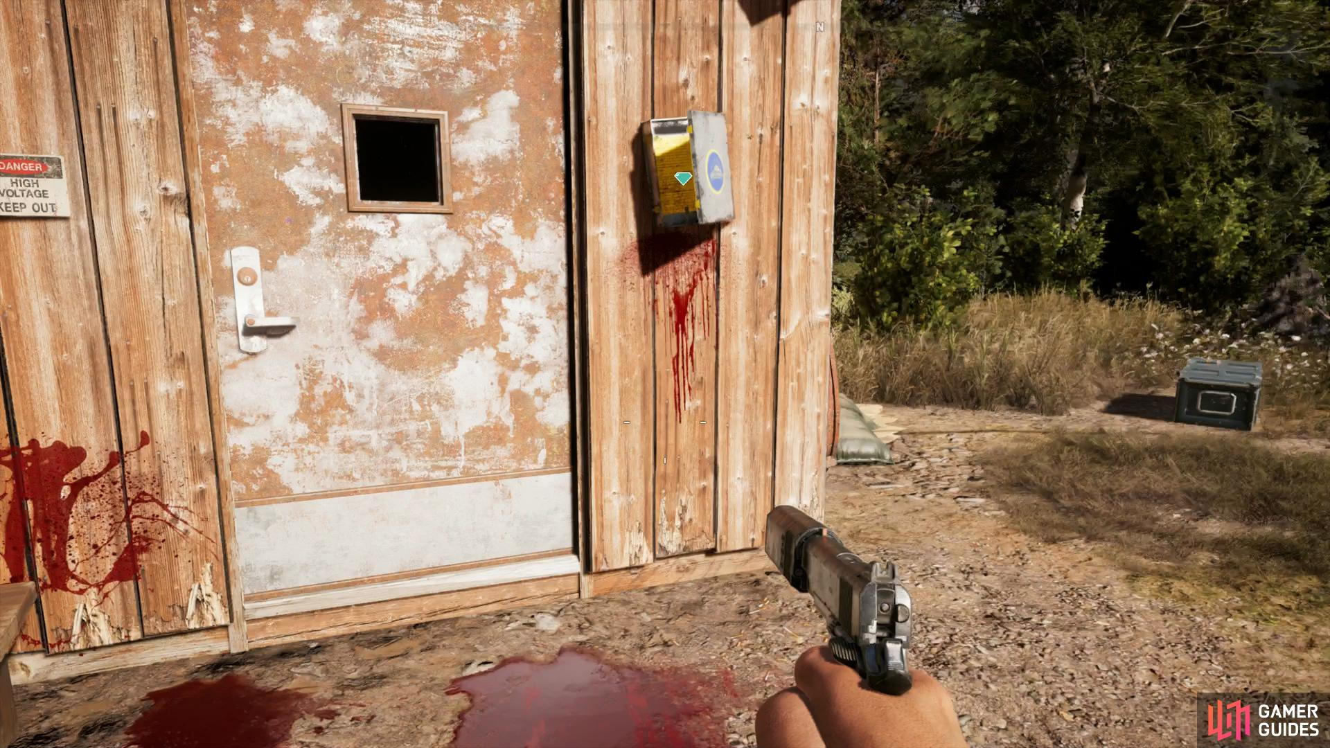 the Prepper Note is located at the locked door
