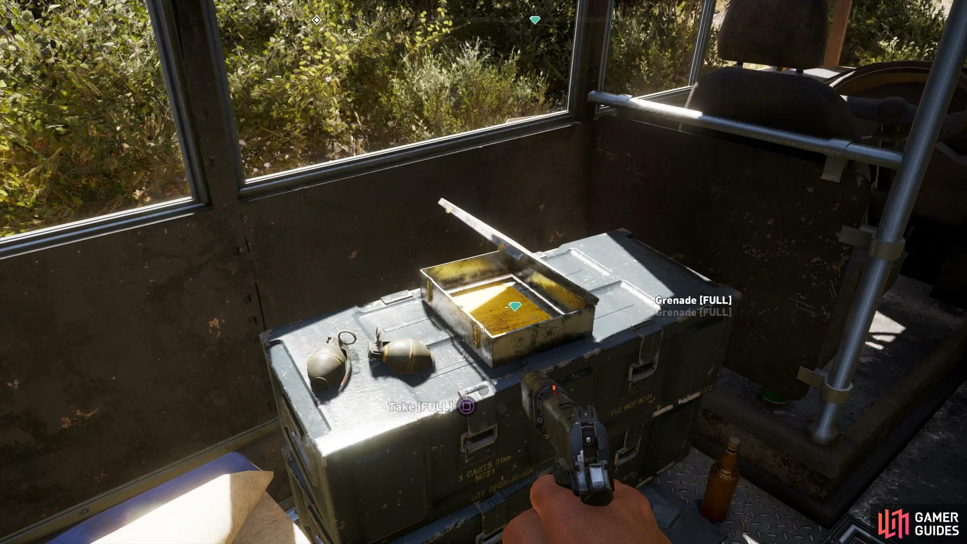 the Prepper note is inside the bus itself