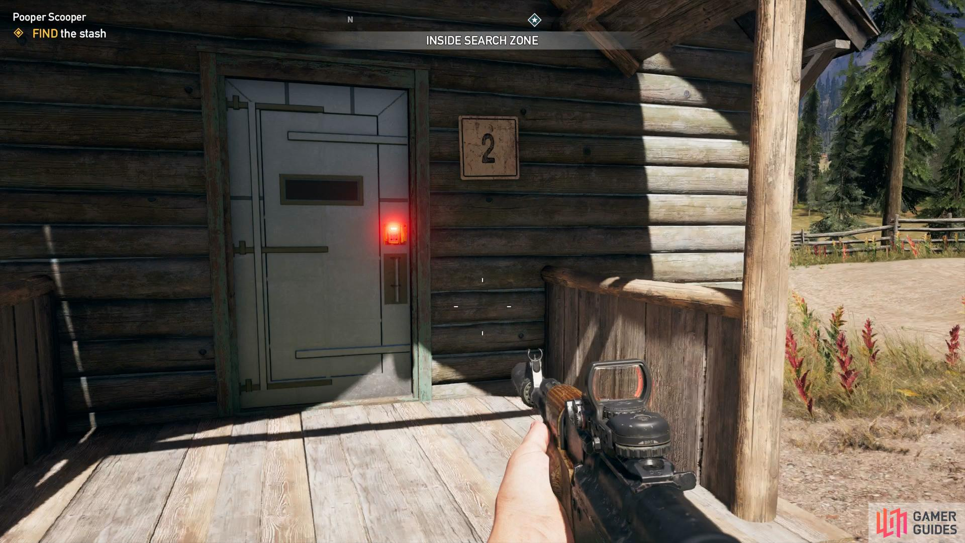 "open door ""2"" with your newly acquired key"