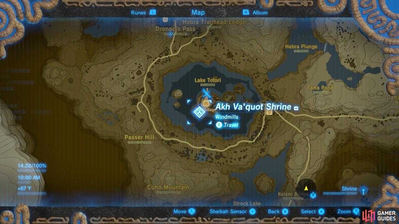 This is the specific location of the Akh Va'quot Shrine