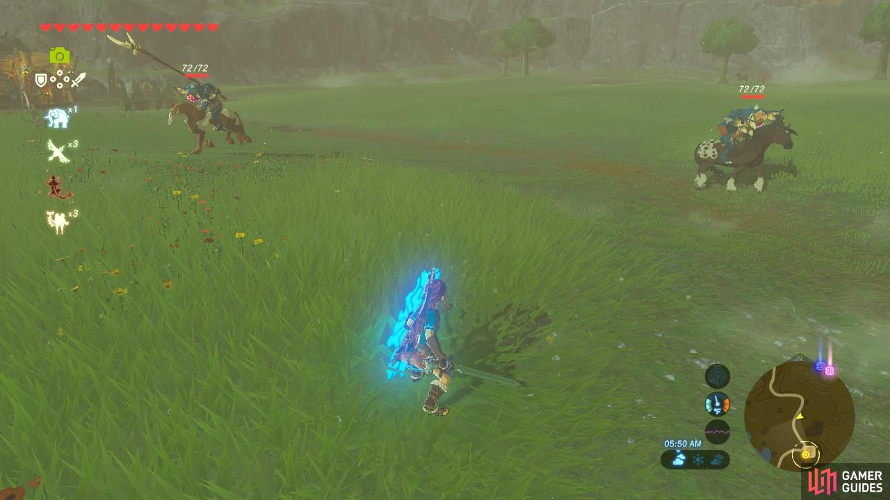 Attacking without your own horse is difficult, but doable