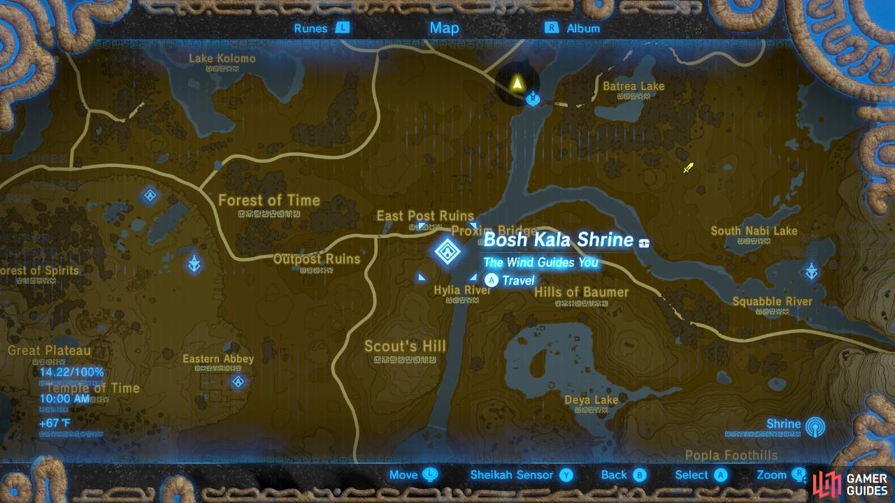 This is the location of Bosh Kala Shrine.