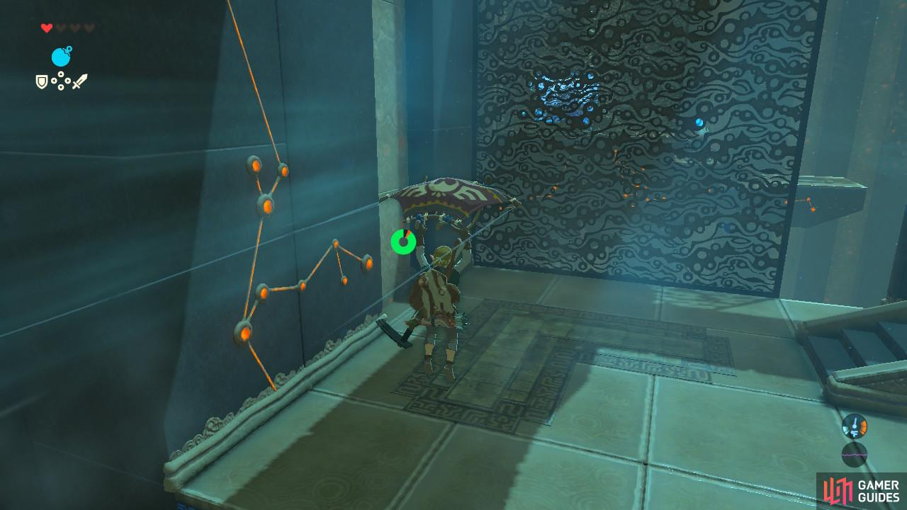 You can drop out of the windstream by putting your Paraglider away or let the metal wall stop you