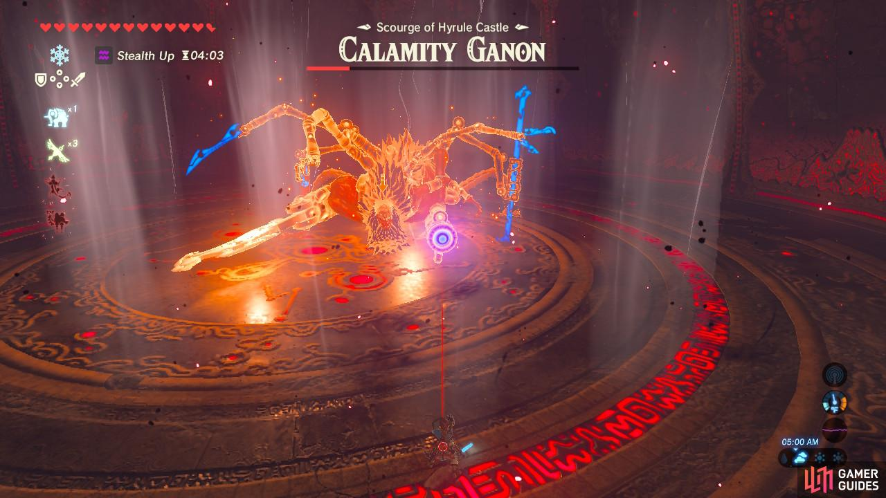 The laser will now come from Calamity Ganon's gun
