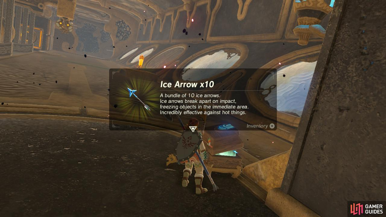 Ice Arrows are rare and quite expensive, so finding 10 for free is awesome
