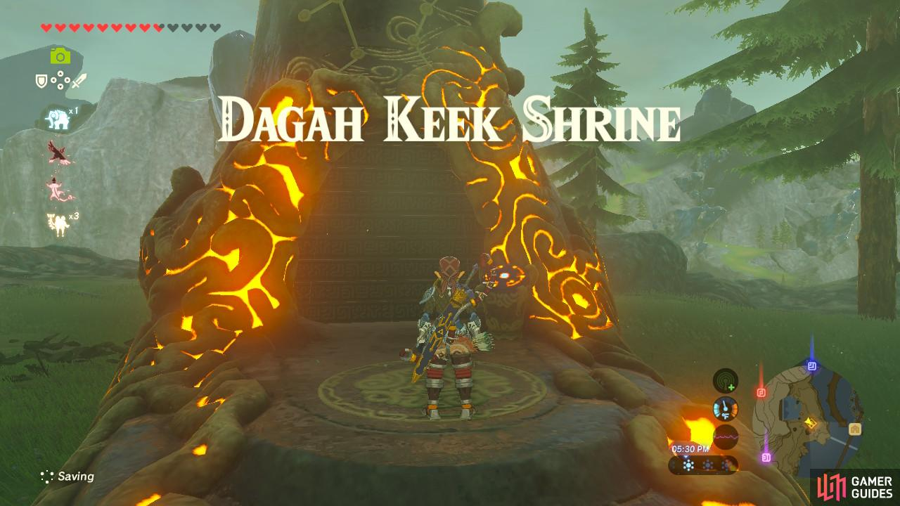 "This Shrine is tied to the Shrine Quest ""The Ceremonial Song"""