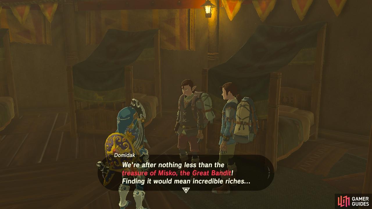 Misko The Great Bandit Zelda >> The Legend Of Zelda Breath Of The Wild Quests Sidequests