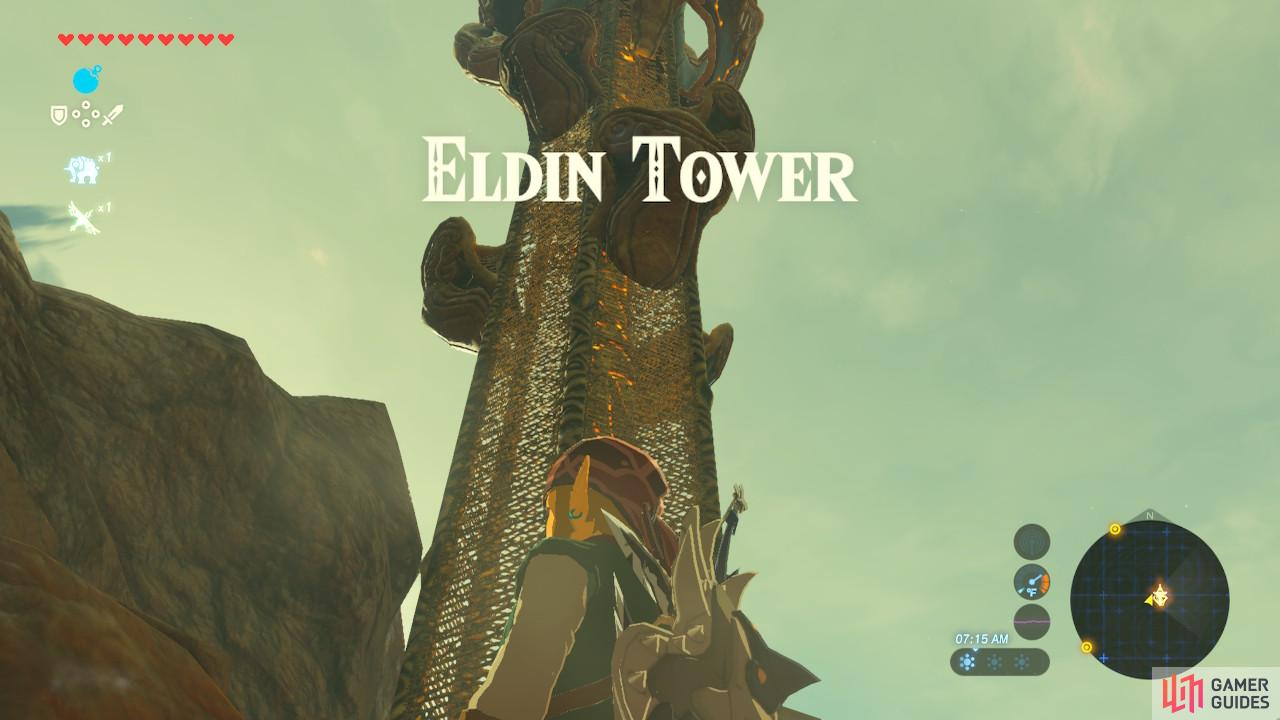 The bottom half of Eldin Tower has no platforms
