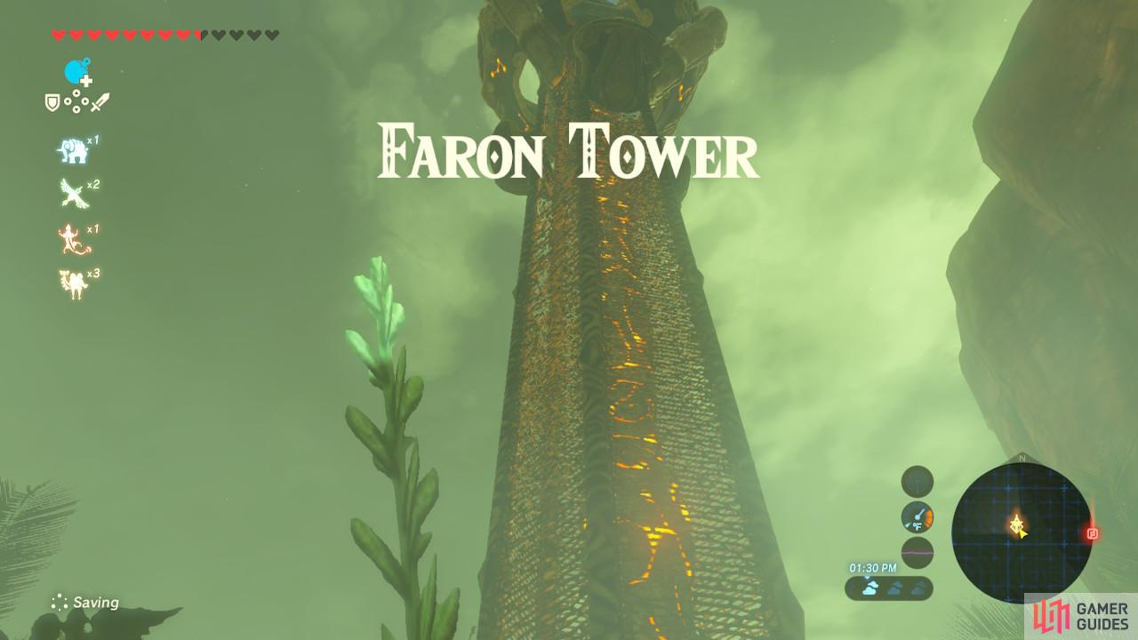 Faron Tower has no bottom platforms