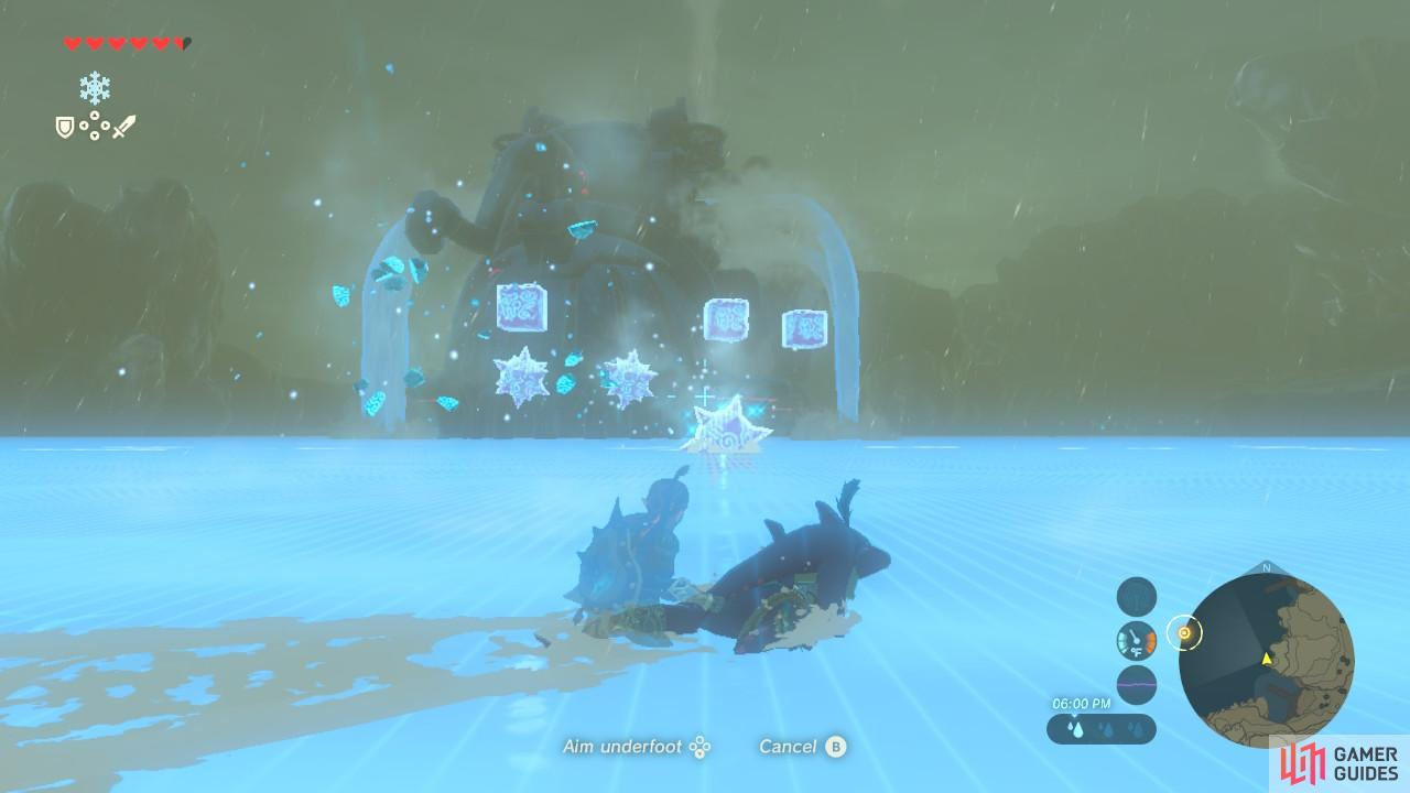 Each time you shoot a weak point, Vah Ruta will create more and more ice blocks.