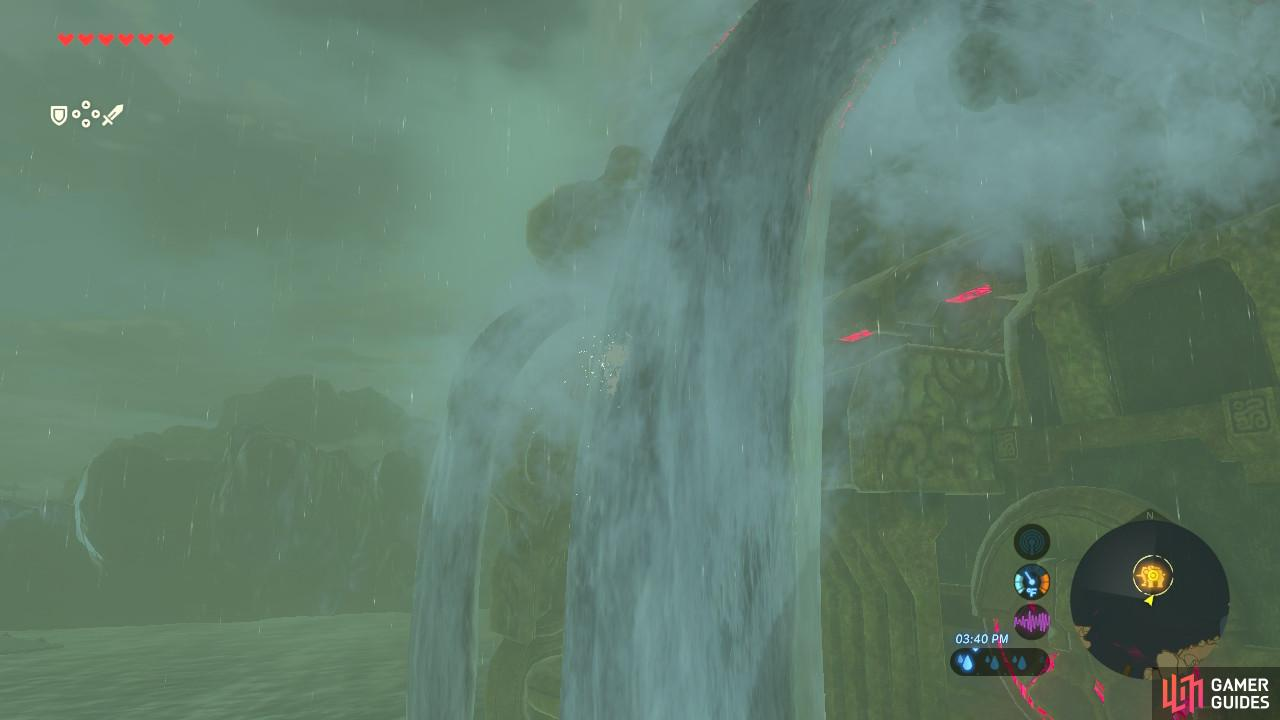 Ride up the spouts from Vah Ruta's back