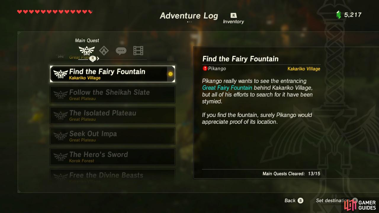 Fairy Fountains let you upgrade your armor, so let's go find ourselves one