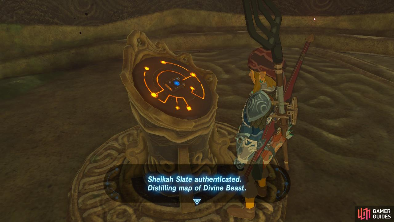 Activate the pedestal to receive a map of Vah Ruta