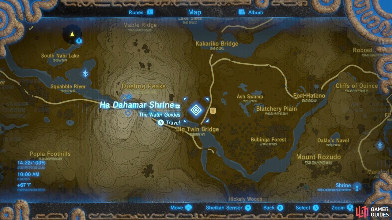 This is the location of the Shrine.