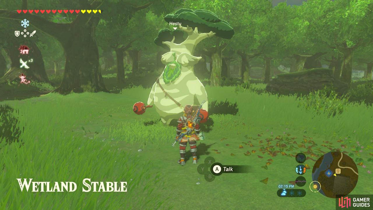 Hestu will be here, also trying to go to Korok Forest