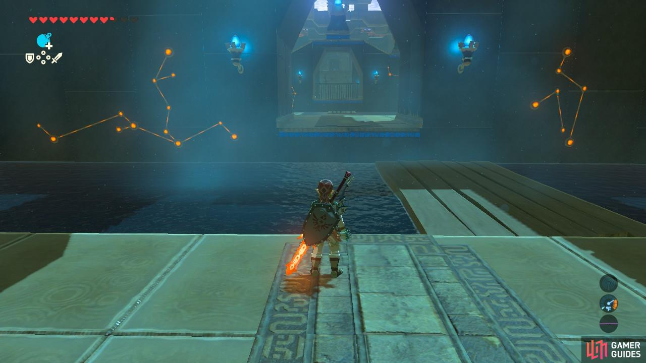 The raft is continuously drifting left, hence the Shrine's name