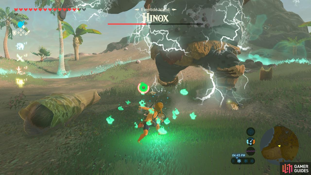 Or you can use Urbosa's Fury at the Hinox's feet for massive damage