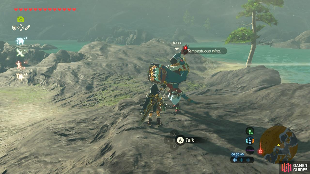 Kass is playing the accordion by the shore