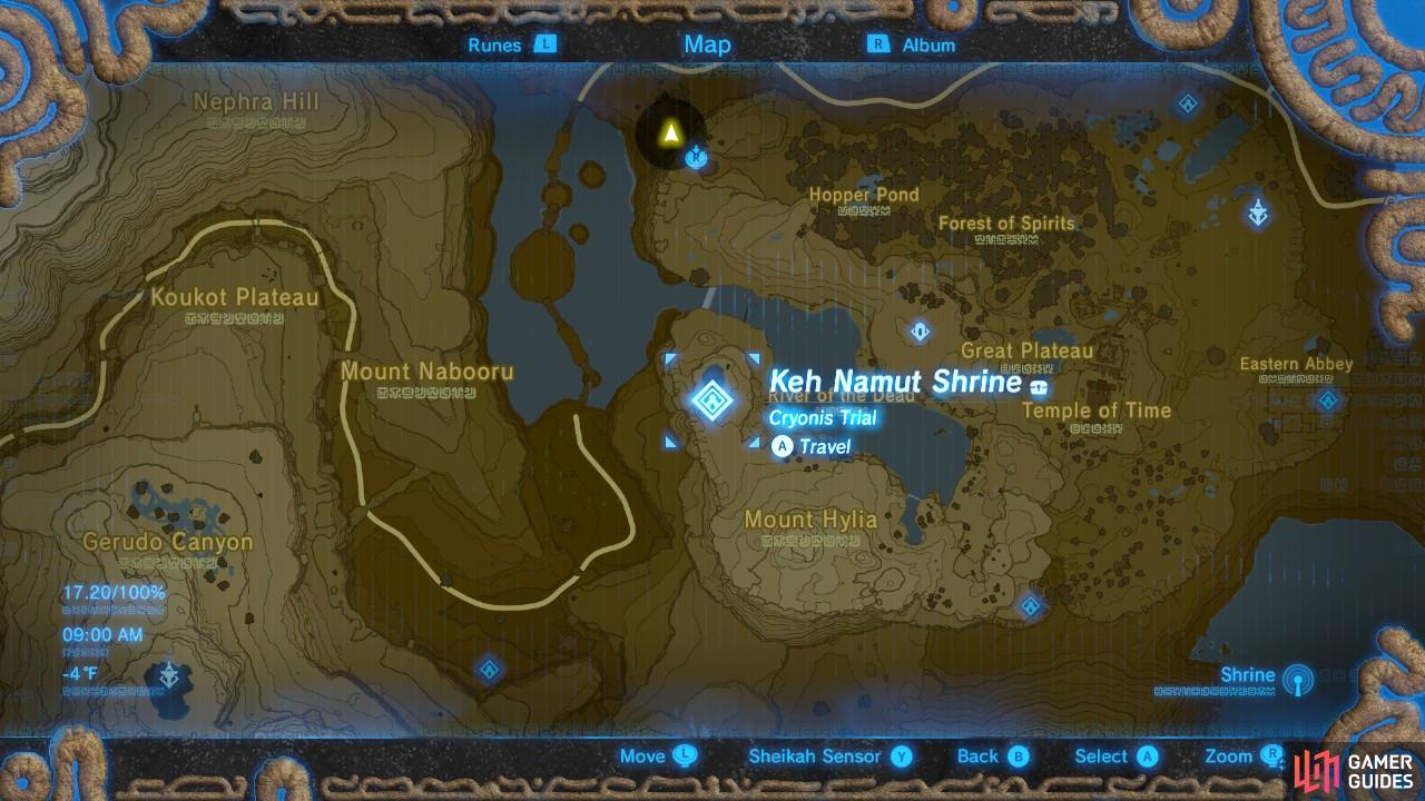 Here is the specific location of the Keh Namut Shrine