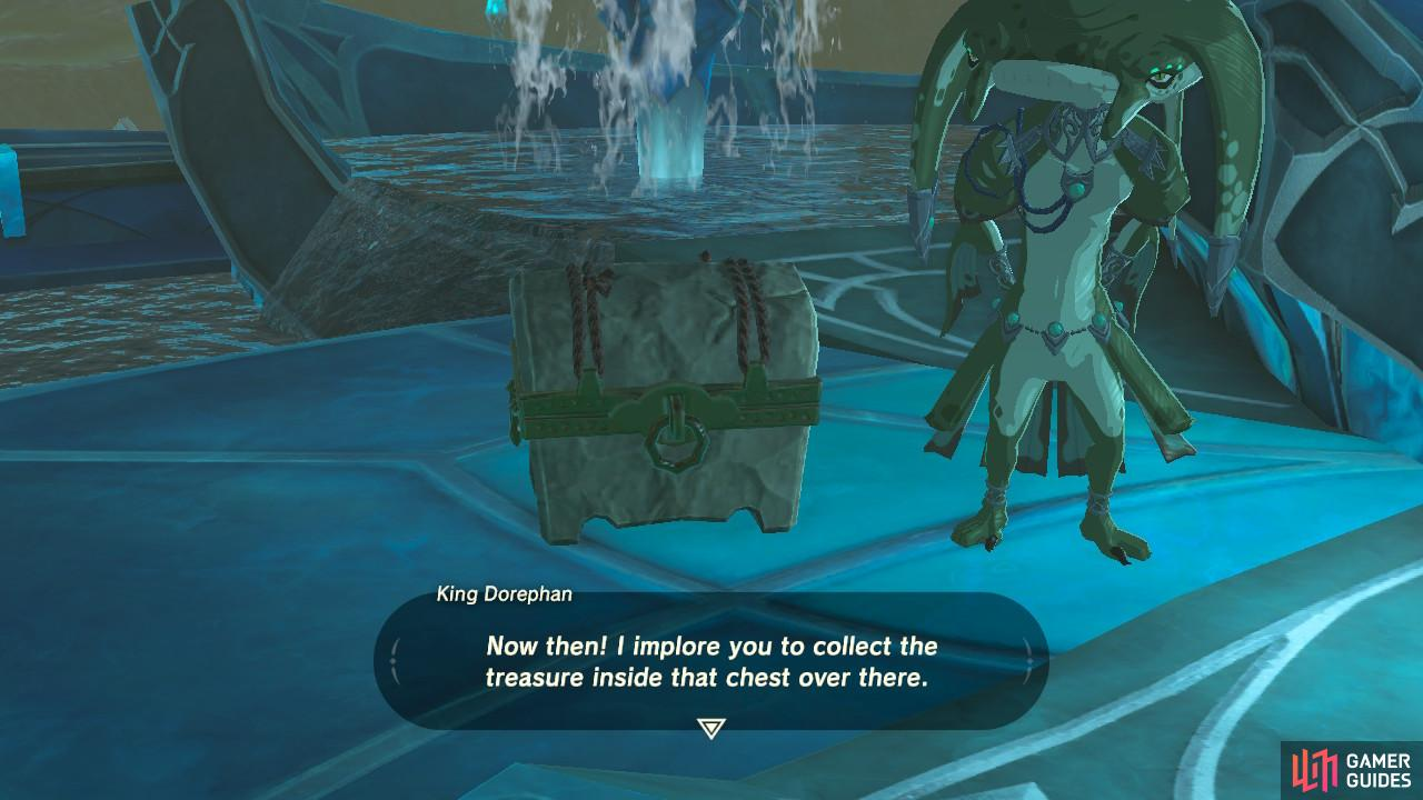 Be sure to open up this treasure chest after the cutscene