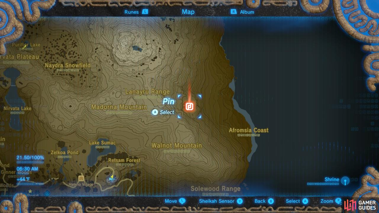 Here is the location pinned on the map