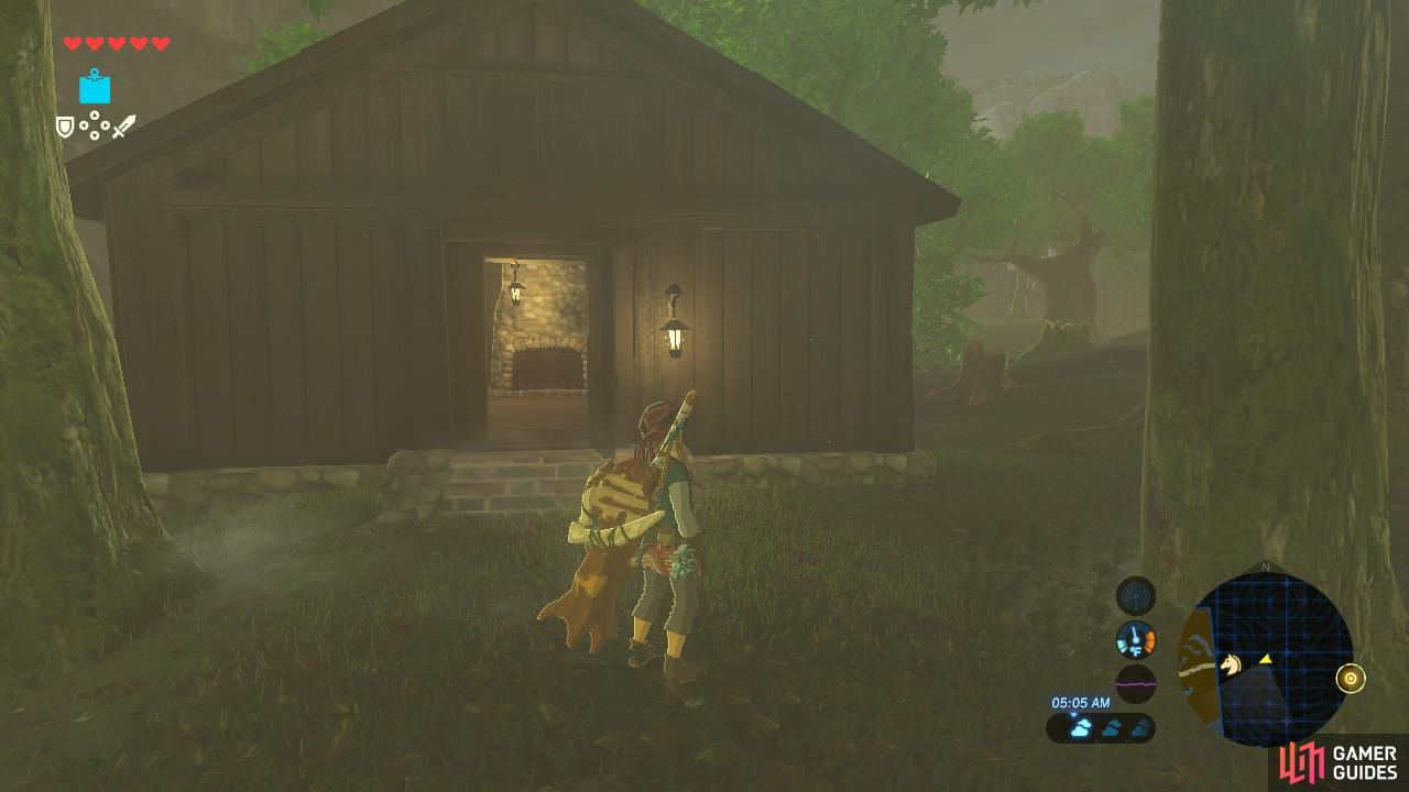 And right next to the cooking pot beyond the trees is where you can obtain a Shrine Quest.