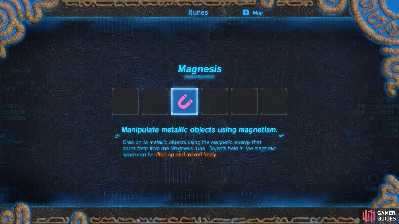 Magnesis will be the first of a few powers your Sheikah Slate will acquire.