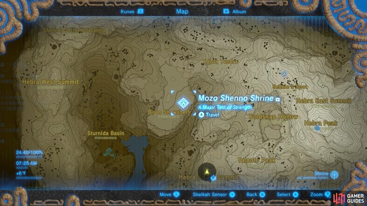 Here is the location of the Shrine