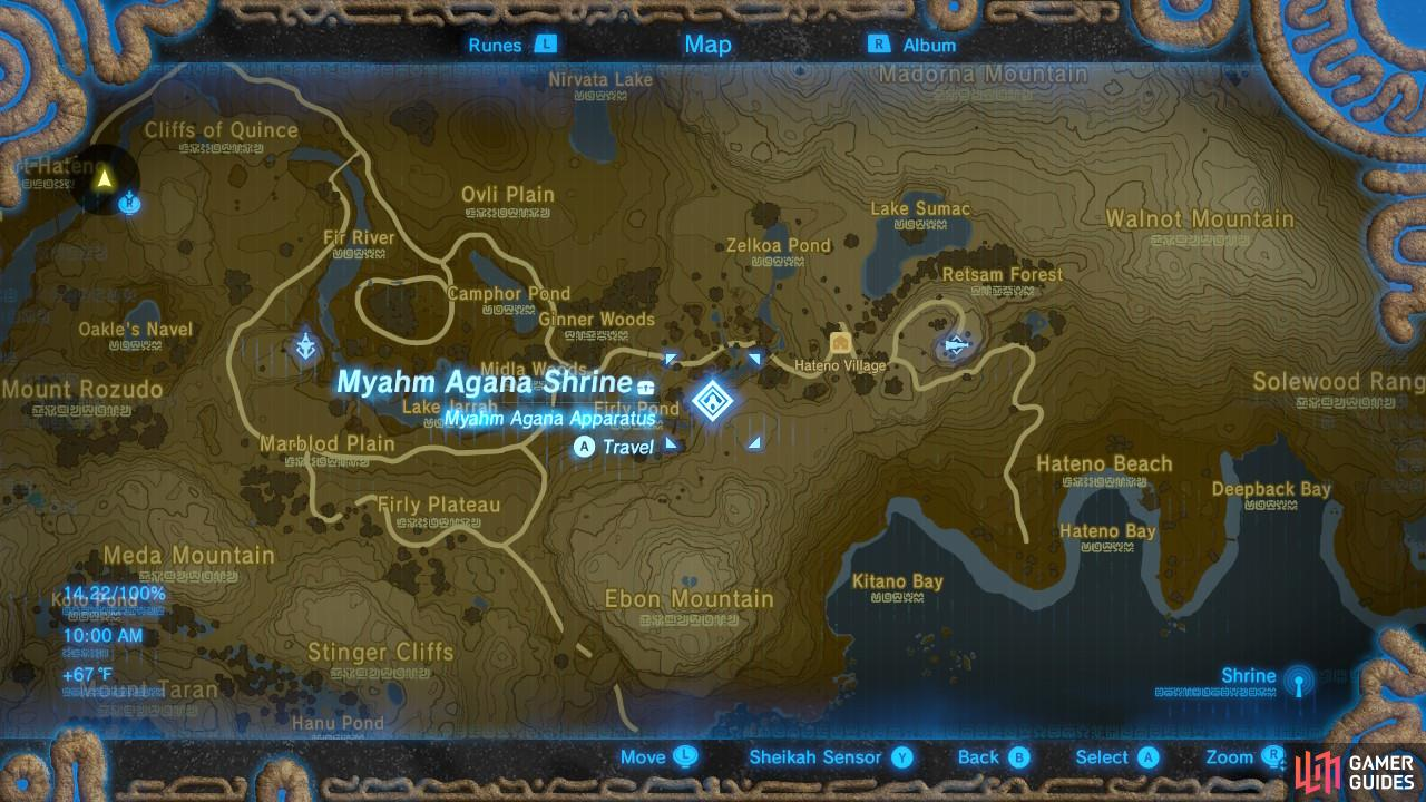 This is the location of Myahm Agana Shrine. It is pretty close to where you can buy a house