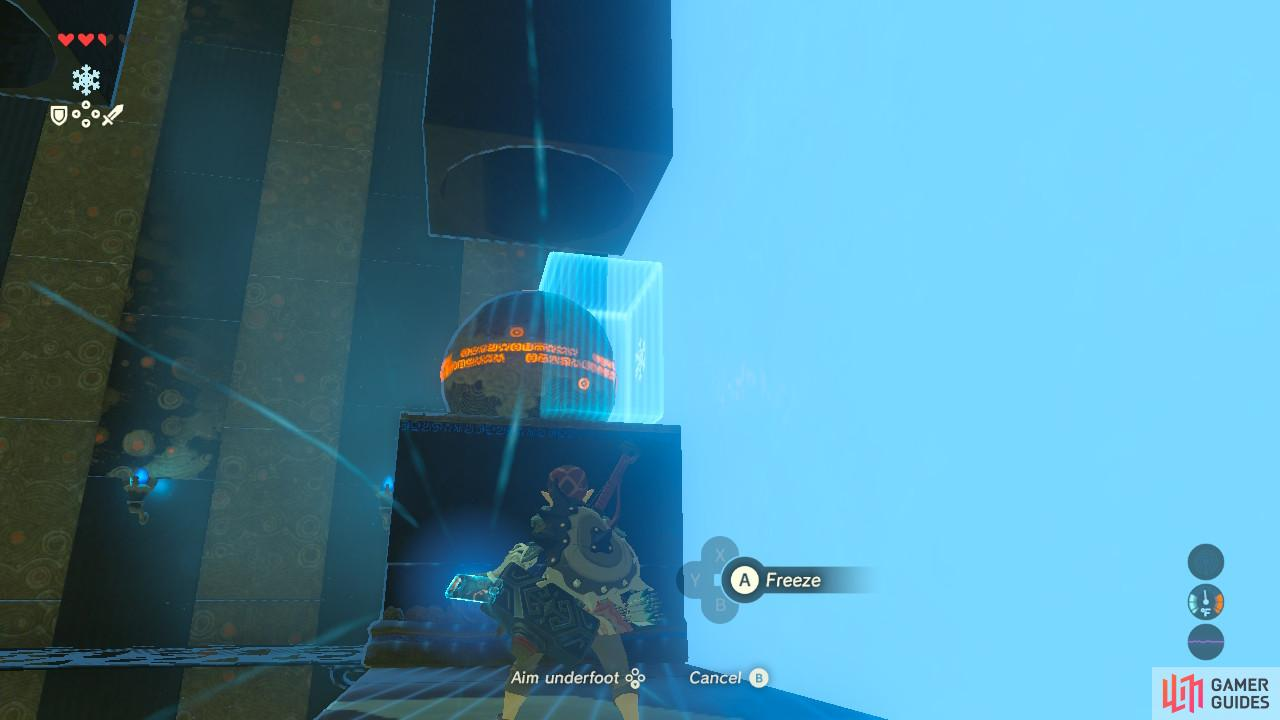 Use Cryonis to push out the special puzzle ball