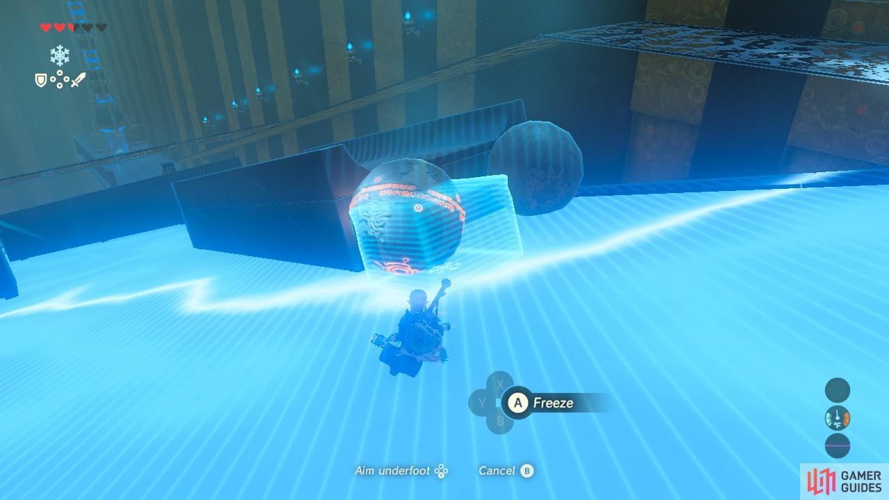 Cryonis will launch this ball into the air at the angle we want