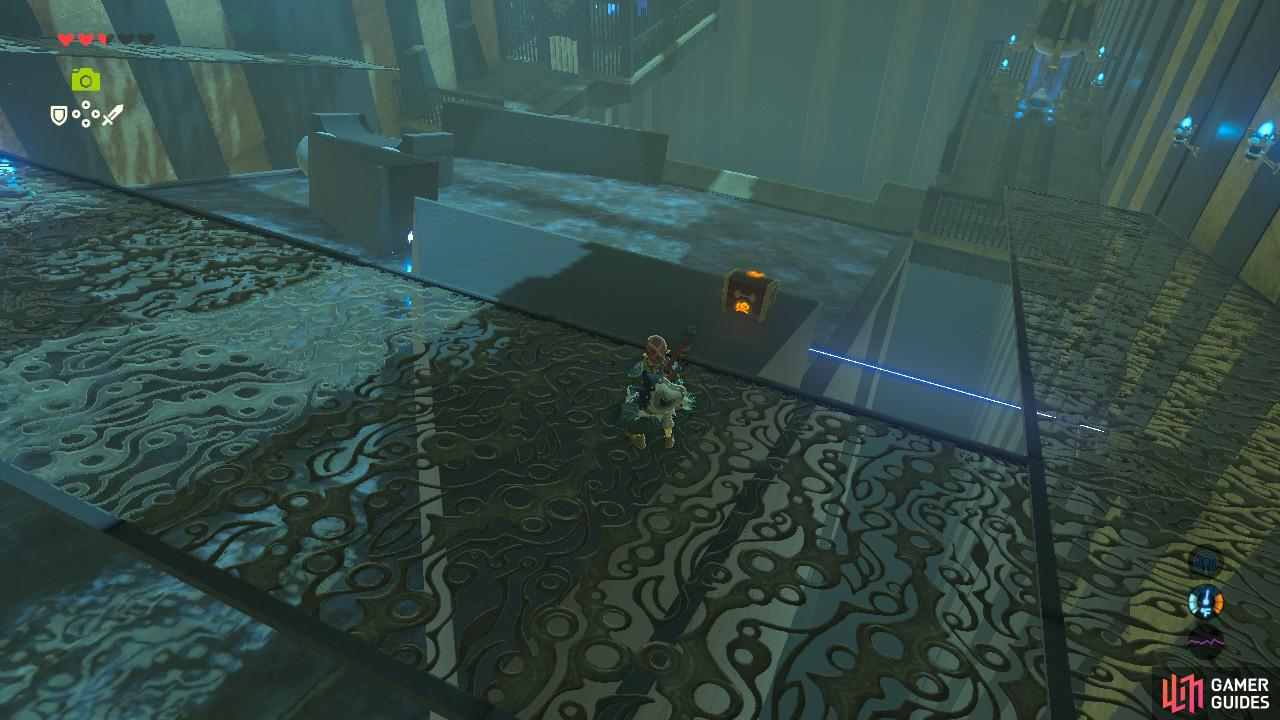 You can jump on top of this platform to get the treasure chest