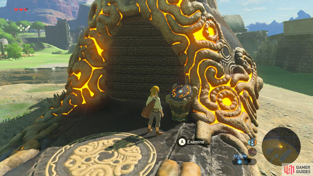 All shrines will have the exact same pedestal at the entrance.
