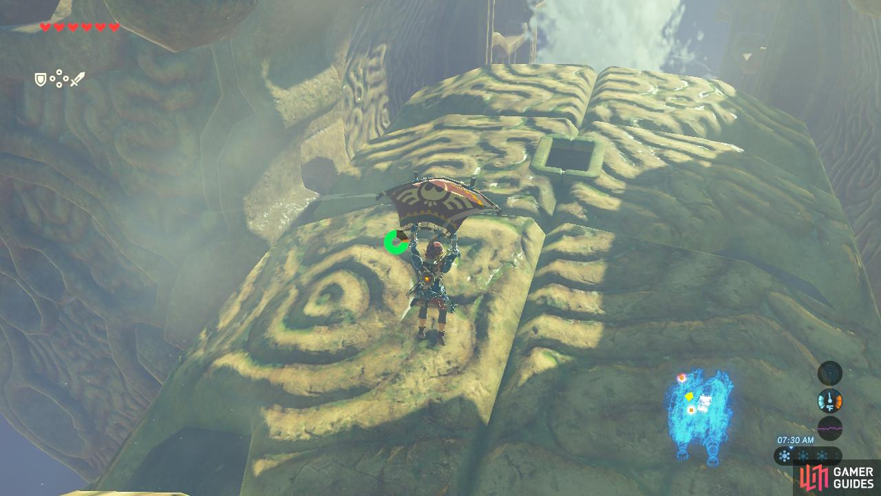 Aim for this section of Vah Ruta's forehead, where you can see an opening
